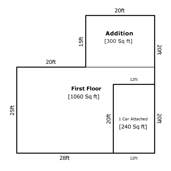Square footage of a house part 2 of 3 appraisal iq for 2 car garage size square feet