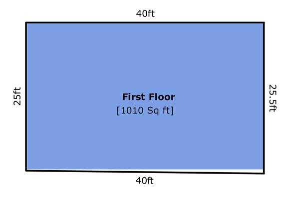 Diagram of Out-of-Square House