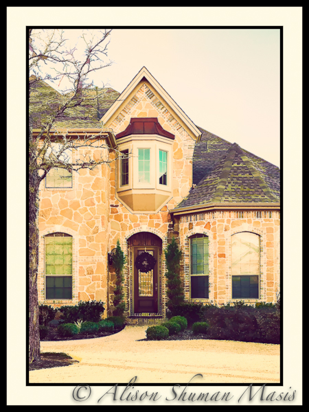 Avery Range Home rendered as Vintage Digital Art Photograph