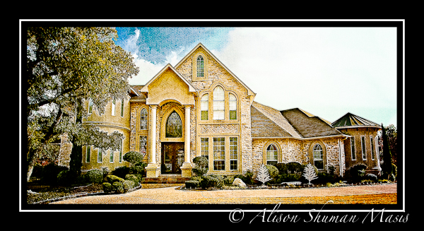Artistic painting of a elegant home in Behrens Ranch