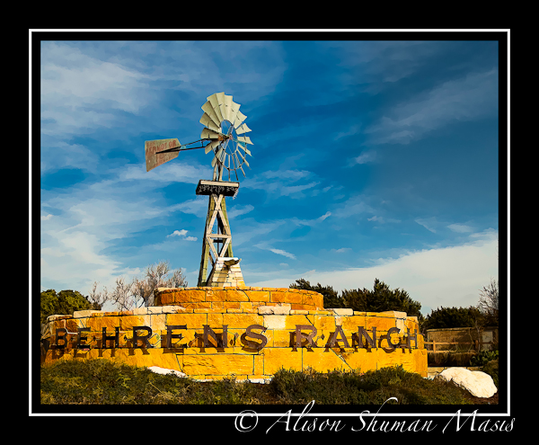 Entrance to the Behrens Ranch Subdivision in Round Rock TX