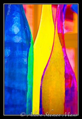 digital art photograph of colorful bottles for an article on the condition of your home and how it impacts value