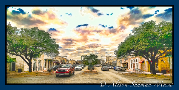 Round Rock Texas Digital Art - Downtown Traffic