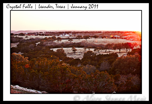 Sweeping view from Grand Mesa at Crystal Falls in Leander Texas