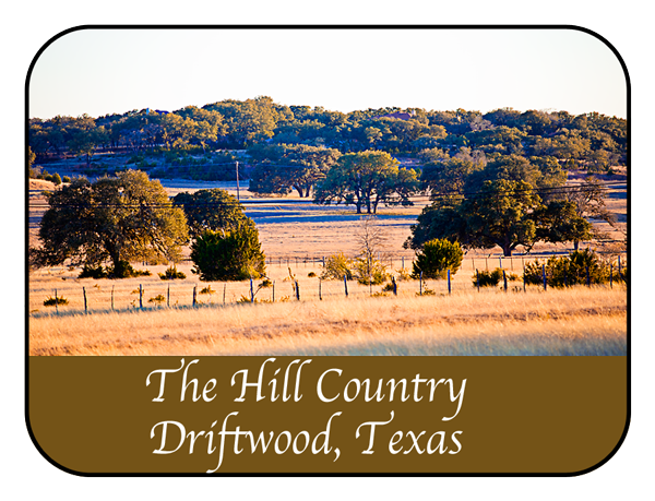 A scenic view of the Hill Country in Driftwood, Texas