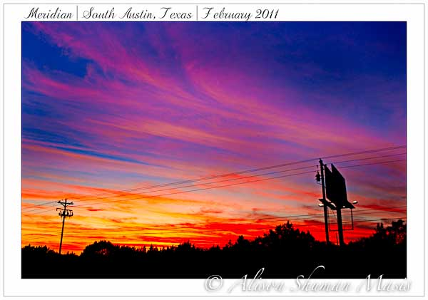 A Gloriously Colored Sunset over South Austin