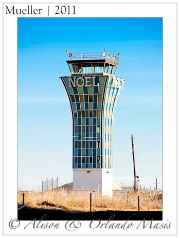 The old RMMA control tower in Austin Texas