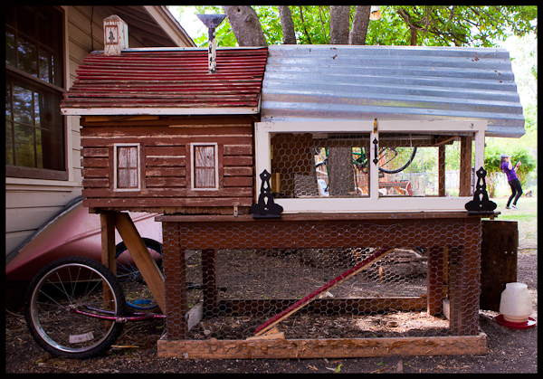 Chicken Coop on Wheels in Austin TX
