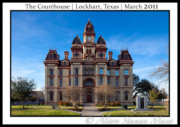 The Caldwell County Courthouse in Lockhart Texas March 2011