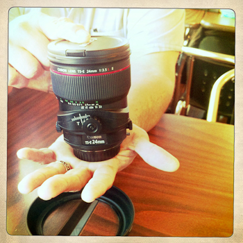 Canon 24mm tilt-shift lens