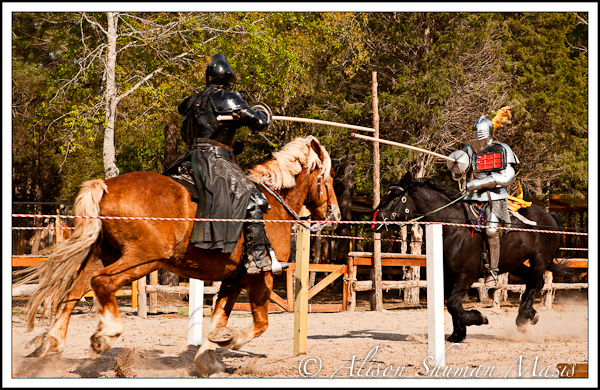 Medieval Jousting Games at the Texas Ren Faire in McDade
