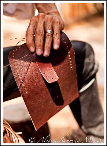 Sewing Leather at the Texas Renaissance Faire