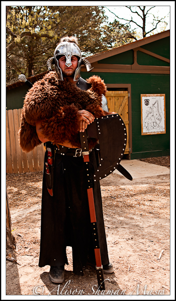 Man wearing a medieval costume including fur ... & Texas Ren Faire: Medieval Action at the Sherwood Forest Faire ...