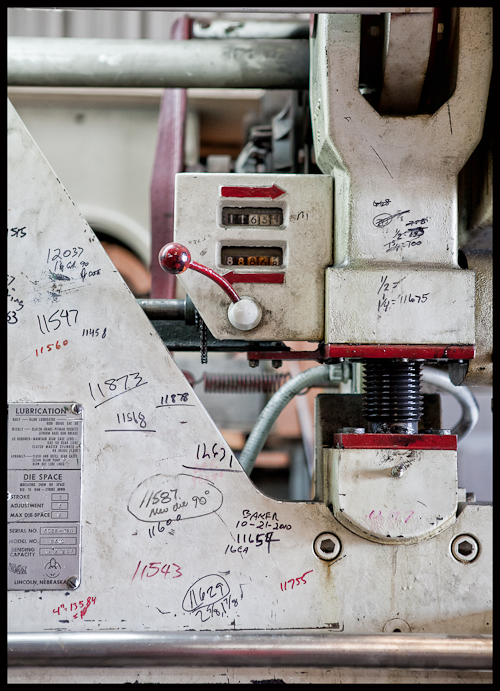 A Machine at an Austin Custom Metal Shop