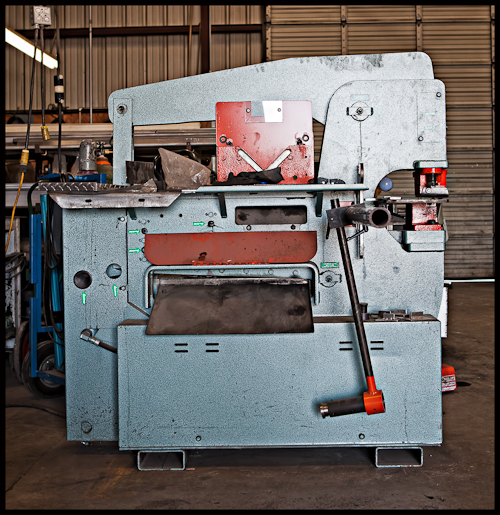 Punching Machine at an Austin Custom Metal Fabricator