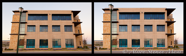 example of architectural perspective distortion