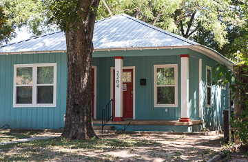 Small house in east Austin - look at the gorgeous blue!